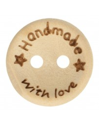 15mm BOUTON BOIS HANDMADE WITH LOVE